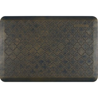 "WellnessMats Estates Trellis Anti-Fatigue Office, Bathroom, & Kitchen Mat, Oasis, 36"" by 24"""