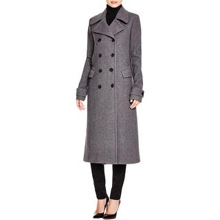 Theory Womens Kenshon Pea Coat Wool Double-Breasted