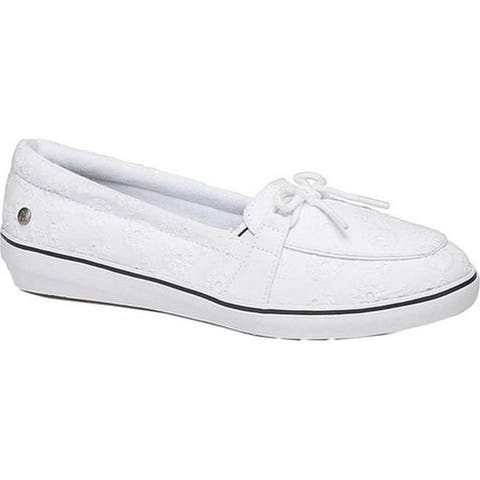 e1476d2df67b96 Grasshoppers Women s Windsor Bow Boat Shoe White Canvas