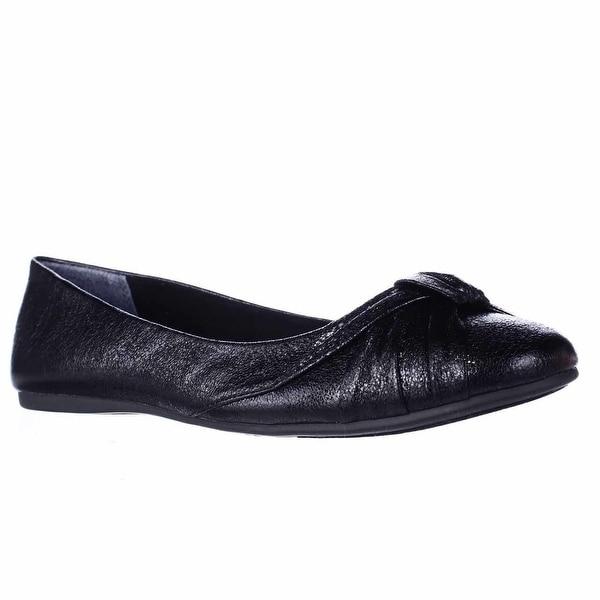SC35 Audreyy Wrap Bow Ballet Flats, Black