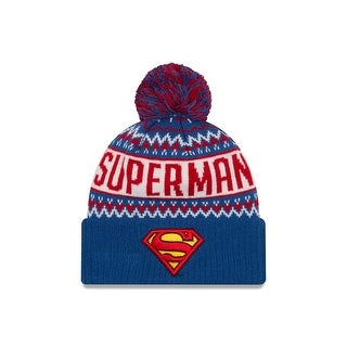 DC Comics Superman Wintry Pom Knit Hat