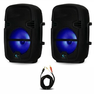 """Technical Pro PB8 Bluetooth 8"""" LED Display Active Rechargeable Battery Speakers"""