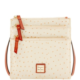 Dooney & Bourke Ostrich North South Triple Zip (Introduced by Dooney & Bourke at $178 in Mar 2016) - Pearl