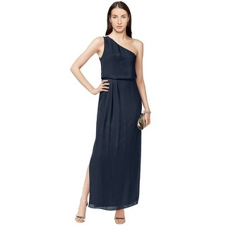 Adrianna by Adrianna Papell One Shoulder Chiffon Draped Evening Gown Dress