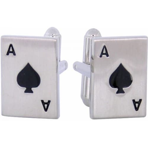 Ace Cards Gambling Casino Las Vegas Cufflinks
