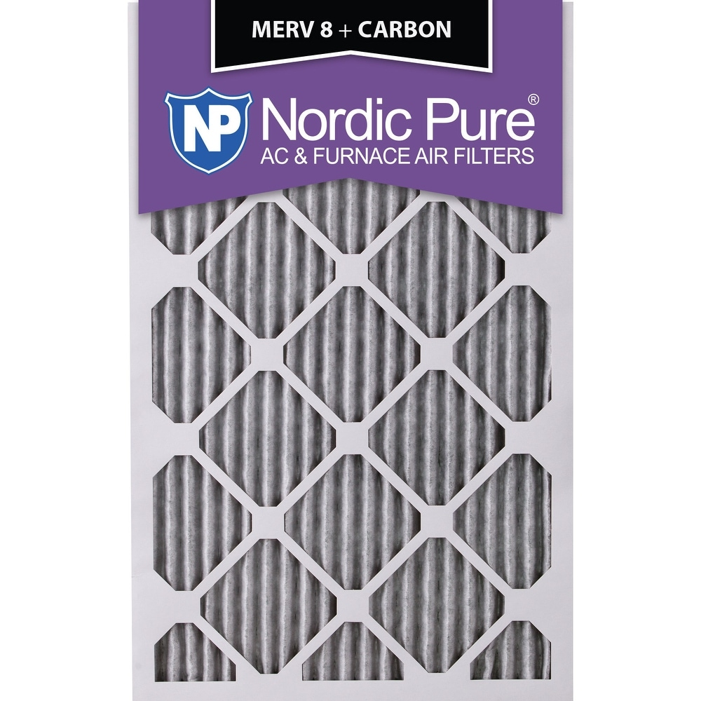 Nordic Pure 10x24x1 Exact MERV 8 Pleated AC Furnace Air Filters 4 Pack