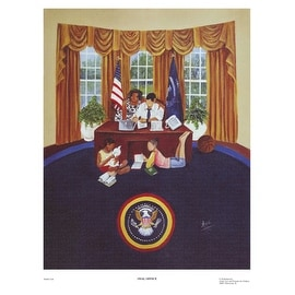 ''Oval Office'' by Annie Lee African American Art Print (17 x 13 in.)