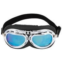 Elastic Band Blue Lens Full Frame Ski Motorcycle Foldable Goggles Glasses