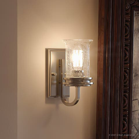 """Luxury French Country Bath Vanity Light, 9.5""""H x 4.75""""W, with English Country Style, Brushed Nickel, UHP3740 by Urban Ambiance"""