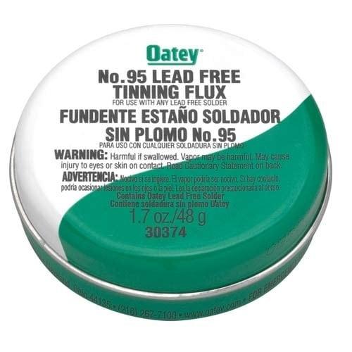 Oatey No.95 Lead-Free Tinning Solder Paste Flux, 1.7 Oz, Greenish-Gray