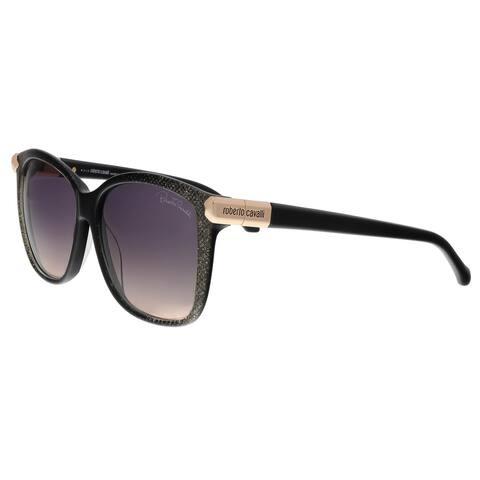 Roberto Cavalli RC902S 05B Menkent Black/Gold Square Sunglasses - 57-14-135