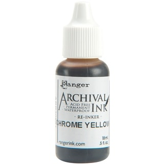 Archival Pad Re-Inker .5oz-Chrome Yellow