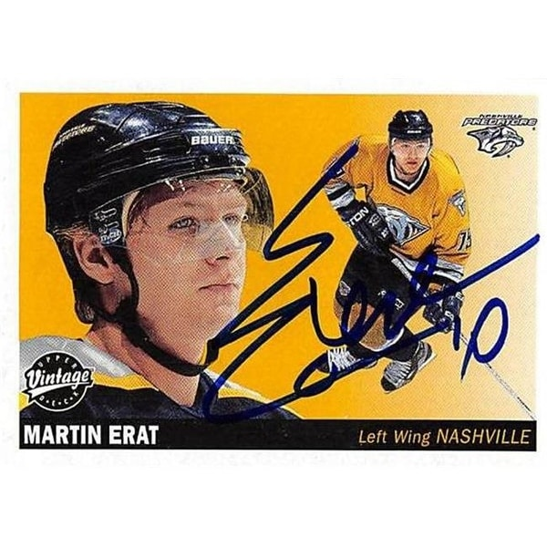 Shop Martin Erat Autographed Hockey Card - Nashville Predators, FT - Free  Shipping On Orders Over $45 - Overstock.com - 23783101