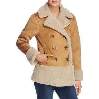 Mother Womens Jacket Faux Suede Faux Fur