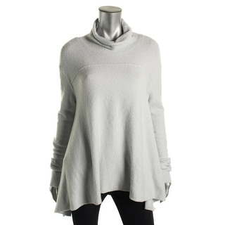 Free People Womens Pullover Sweater Oversized Turtleneck