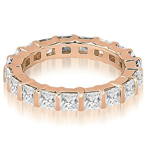 6.00 cttw. 14K Rose Gold Princess Diamond Eternity Ring