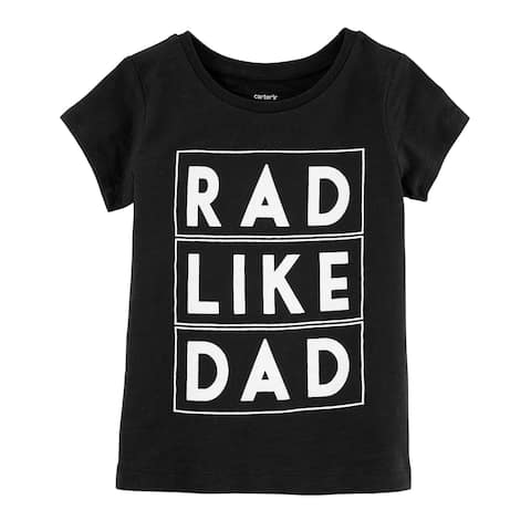 Carter's Little Boys' Rad Like Dad Slub Jersey Tee, 4/5