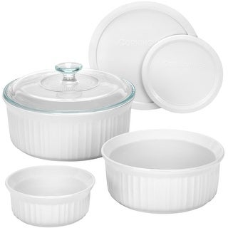 Corningware 1074887 French White Bakeware Set, 6 Piece