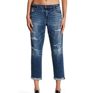 Joe's NEW Blue Women's Size 28X26 Cuffed Distressed Boyfriend Jeans