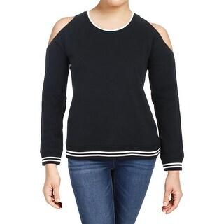 Lauren Ralph Lauren Womens Maklolm Pullover Sweater Knit Cold Shoulder