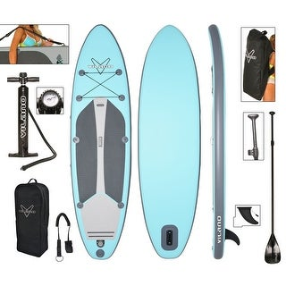 "Vilano Navigator 10' 6"" Inflatable SUP Stand Up Paddle Board Package (Option: Blue / Grey)"