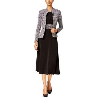 Jessica Howard Womens Petites Dress With Jacket Metallic 2PC