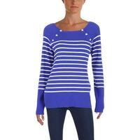 Lauren Ralph Lauren Womens Zayne Pullover Sweater Striped Colorblock