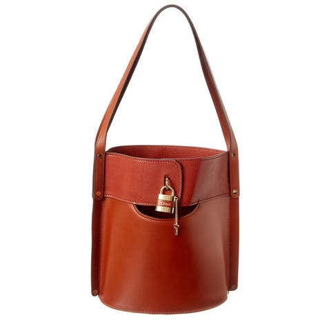Chloe Aby Medium Leather Bucket Bag
