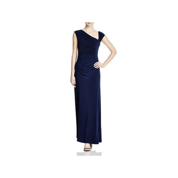 8df9a87bde0 Shop Vera Wang Womens Evening Dress Asymmetrical Neck Ruched - Free ...
