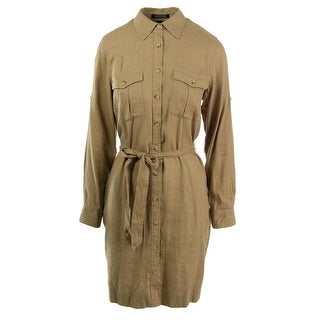 Lauren Ralph Lauren Womens Linen Twill Shirtdress - S