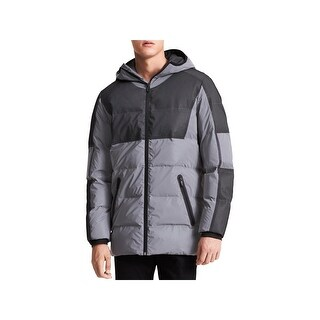 Calvin Klein Mens Puffer Coat Reflective Winter - L