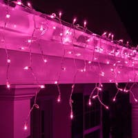 "Wintergreen Lighting 15236 Mini Icicle Lights with 4"" Spacing and White Wire - PURPLE - N/A"