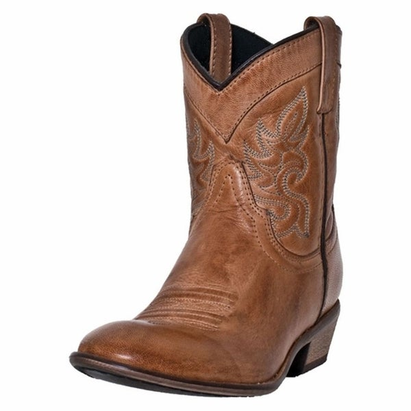 "Dingo Western Boots Womens Willie 6"" Leather Embroidery Tan"