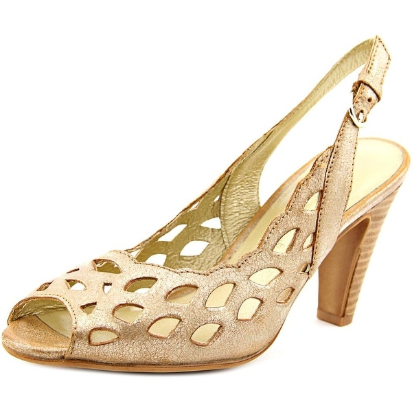 Gerry Weber Sascha 06 Women  Peep-Toe Leather Bronze Slingback Heel