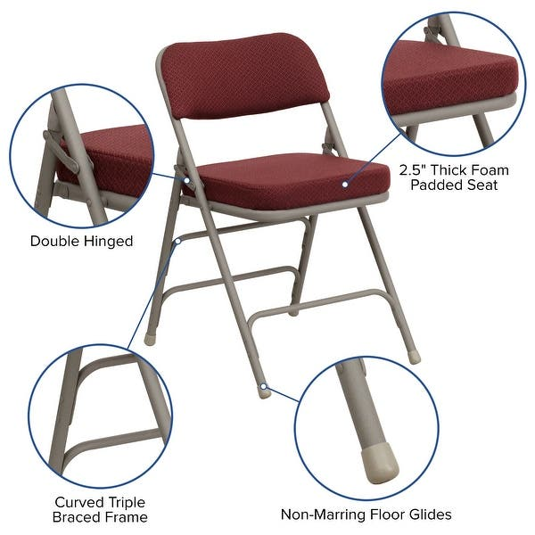 Padded Folding Chair Overstock 29342415