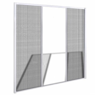 "vidaXL White Sliding Insect Screen for Double Doors 84.6""x84.6"""
