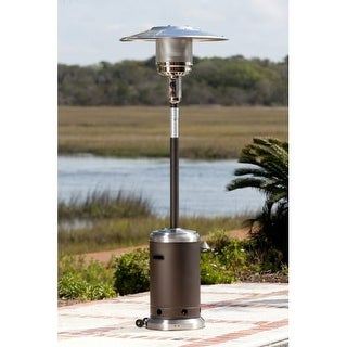 Fire Sense 61185 Mocha And Stainless Steel Commercial Patio Heater