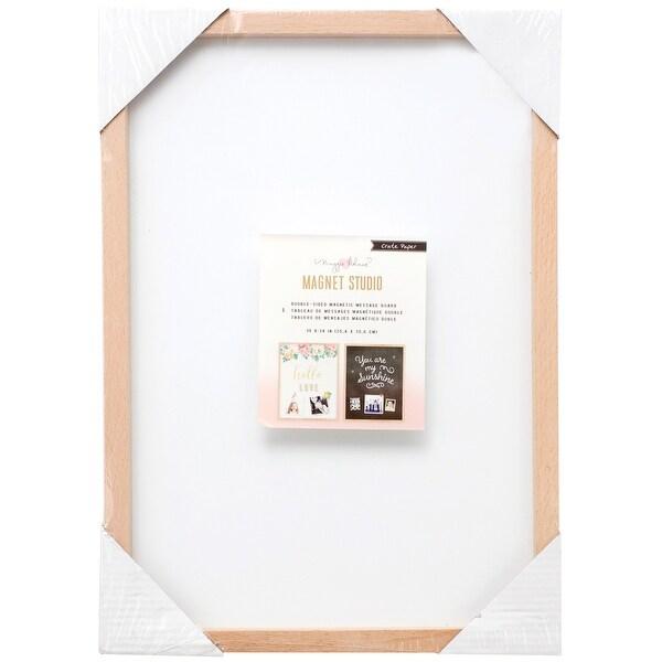 "Maggie Holmes Magnet Studio Magnet Board 10""X14""-Double-Sided Black & White W/Wood Frame - Black & White"