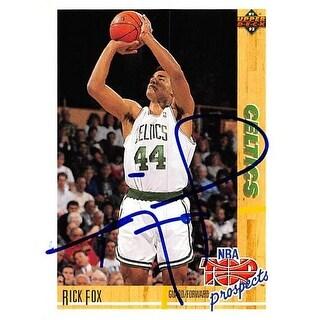 Boston Celtics Ft 1992 Upper Deck No. 443 Rick Fox ed Basketball