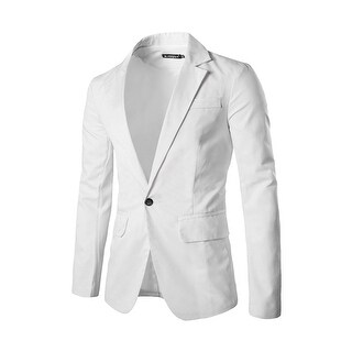 Unique Bargains Men's Classic Notch Lapel Suiting Blaze