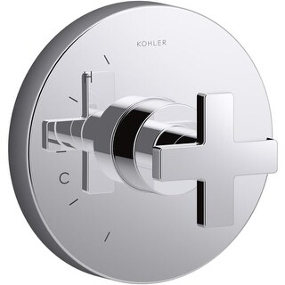 Kohler K-TS73115-3 Composed Pressure Balanced Valve Trim with Cross Handle (Option: Steel Finish)
