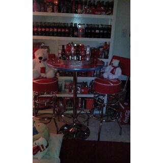Coca Cola Pub Table And Bar Stools With Backs Set Free