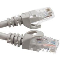 14 foot, Cat6 Slim Finger Boot Ethernet Patch Cable - Gray