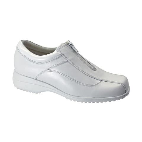 24 HOUR COMFORT Trish Womens Wide Width Leather Comfort Shoes