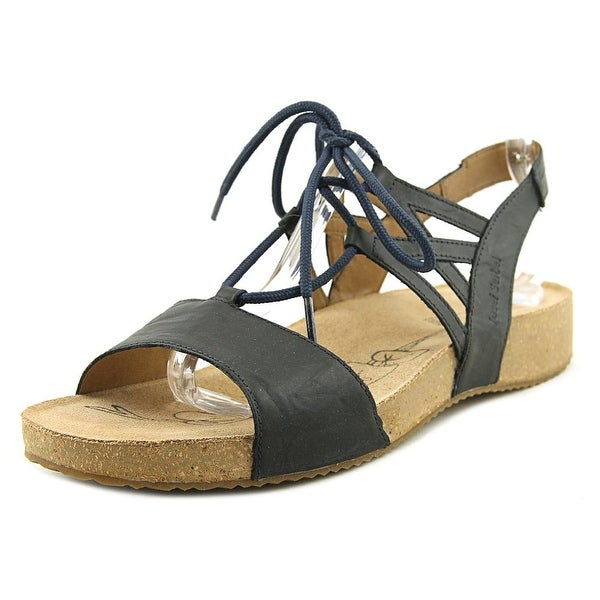 Josef Seibel Tonga 41 Women Open Toe Leather Black Sandals