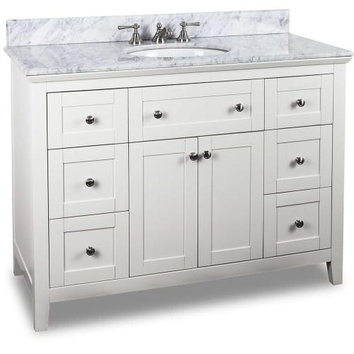 Jeffrey Alexander Van105 48 T Inch Single Free Standing Vanity Set With Hardwood