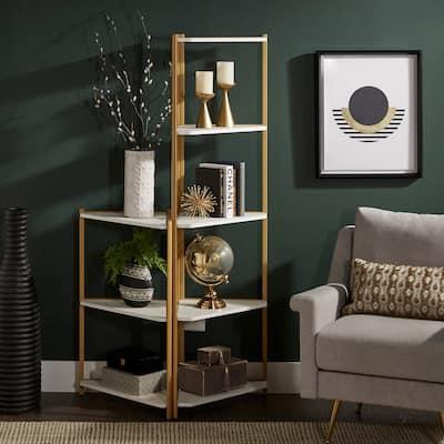 Winnie Two-Tone Corner Bookcase by iNSPIRE Q Modern