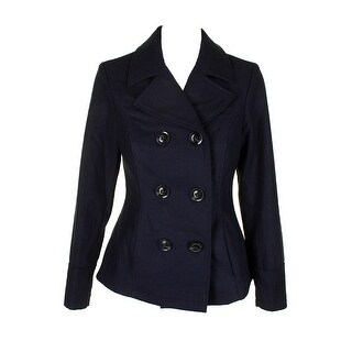 Celebrity Pink Midnight Blue Double-Breasted Peacoat M