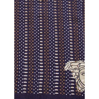 Versace Collection Women's Medusa Logo Scarf Blue