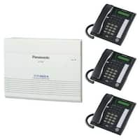 Panasonic KX-TA824-7731B Advanced Hybrid Telephone / Intercom System + 3 Hybrid Phones (KX-T7731)